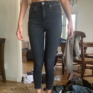 Free People High Rise Black Jeans
